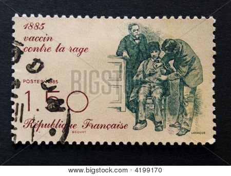 Postage Stamp To Celebrate Rabies Vaccine