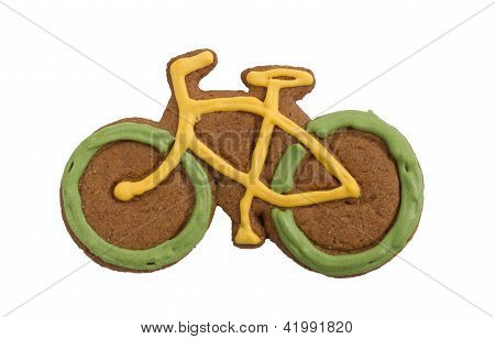 Gingerbread bike cookie