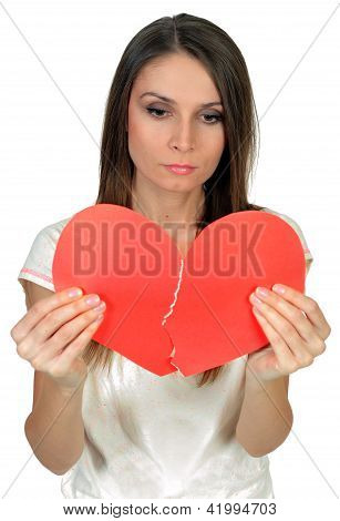 Woman with broken heart, concept of relationship crisis