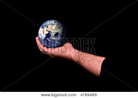Man Caring For Earth
