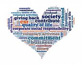 Corporate Social Responsibility in word collage