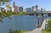 Portland Oregon Downtown Skyline.