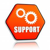 stock photo of rectifier  - support and gears sign  - JPG