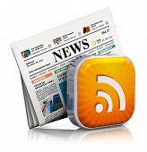 foto of newspaper  - Internet news and web RSS concept - JPG