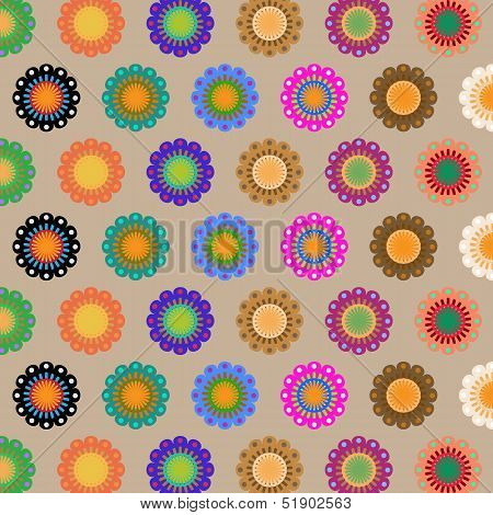 Create Seamless Folk Flower Pattern
