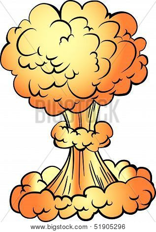 Cartoon nuclear explosion.