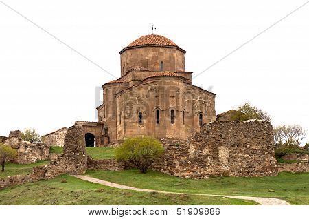 Old Medieval Catolic Church On The Hill