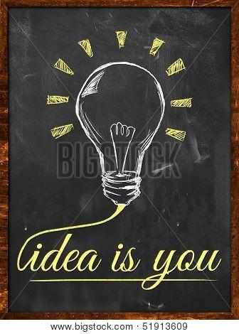 Idea is you wallpaper blackboard