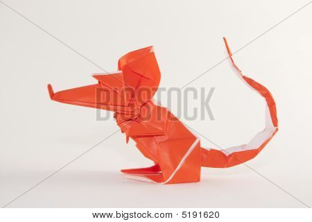 Side View Origami Mouse