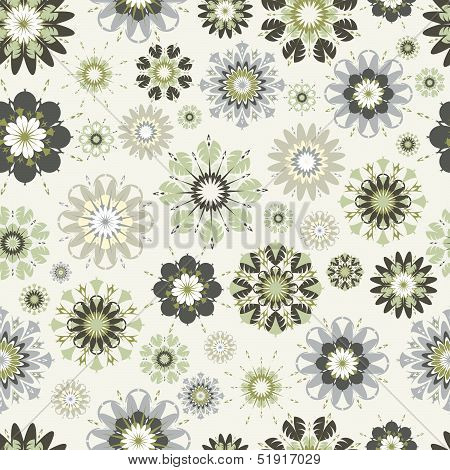 Flower Seamless Vector Pattern.  The .eps Includes Seamless Swatch,  So You Can Make Easy Seamless P