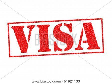 Visa Rubber Stamp