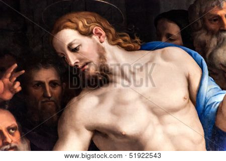 Christ Painted By Agnolo Di Cosimo