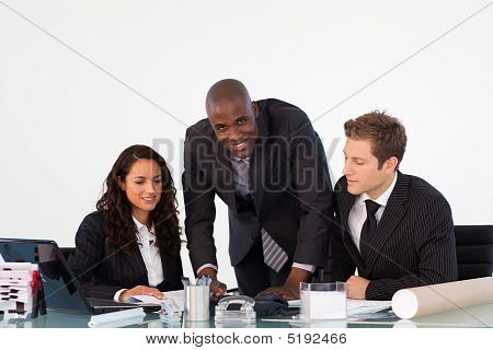 Businessteam Discussing A New Plan