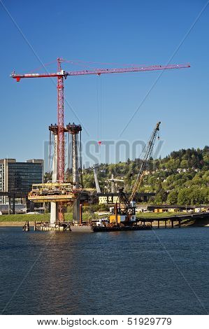 Construction By The Willamette River