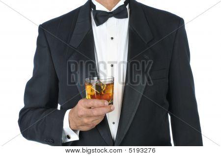 Manin Tuxedo Holding Cocktail