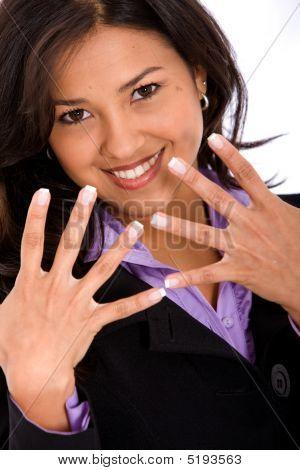 Business Woman's Hands