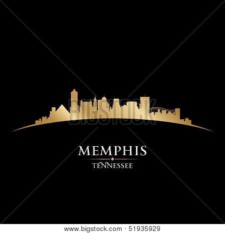 Memphis Tennessee City Skyline