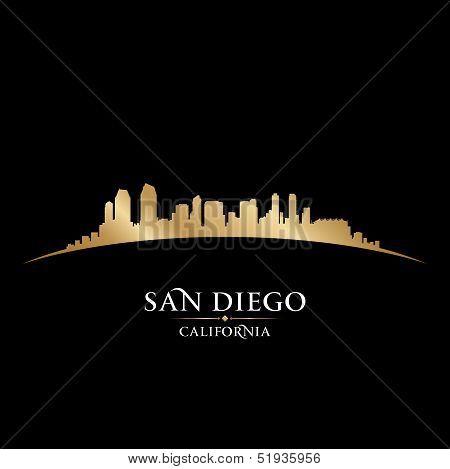 San Diego California City Skyline