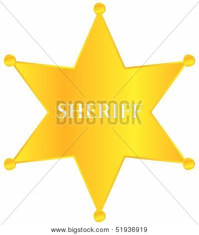 Golden Sheriff Star Badge