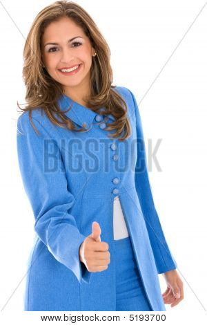 Thumbs Up Businesswoman