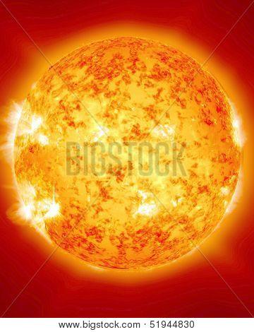 Burning And Fiery Sun