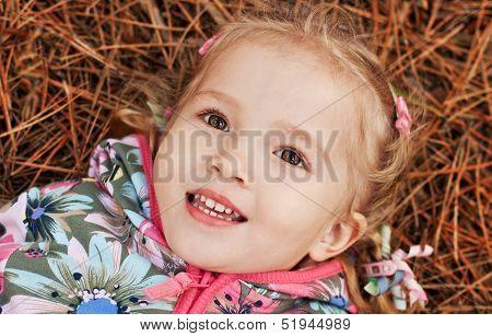 Adorable Girl Having Fun