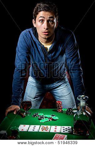 Young Gambler Indoors