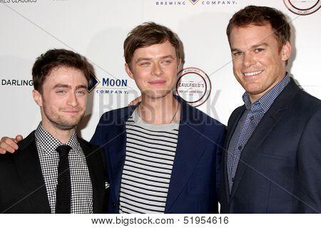 LOS ANGELES - OCT 3:  Daniel Radcliffe, Dane DeHaan, Michael C. Hall at the