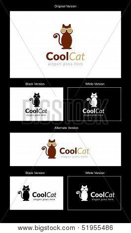 Cool Cat Logo Design