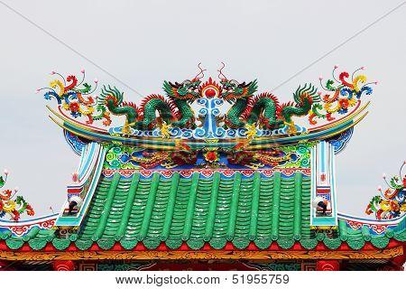 Chinese Shrine Roof.