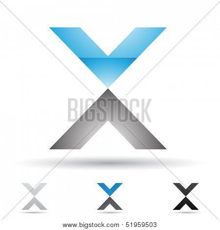 illustration of abstract icons based on the letter X