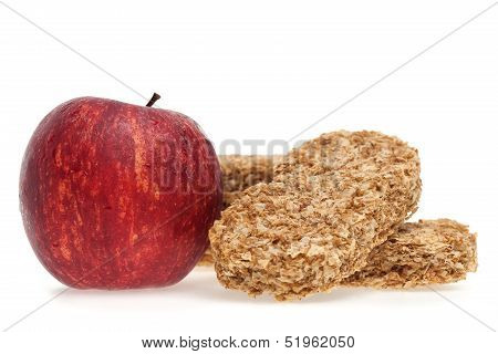 Cereal Bar And Red Apple
