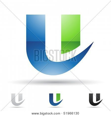 illustration of abstract icons based on the letter U