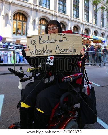 The revolution is wheelchair accessible
