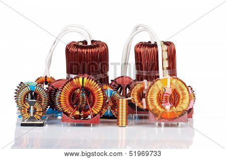 Selection Of Many Industrial Toroidal Choke Coils
