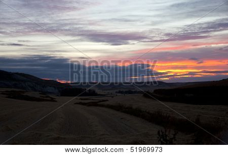 Sunrise In The Rural Scene
