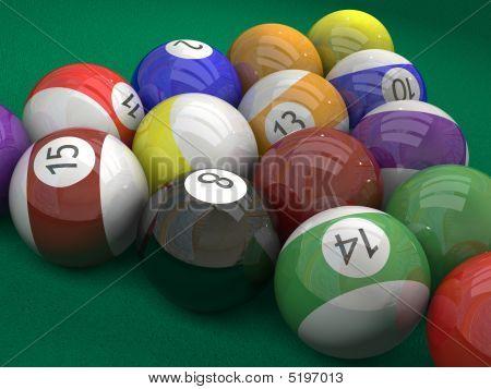 Pool  Billiard Ball  On Green
