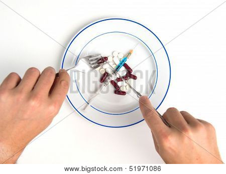 Medical Meal Of Pills And Tablets
