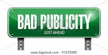 Bad Publicity Road Sign Illustration Design