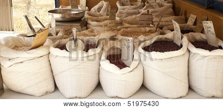 Legumes Inside The Bags