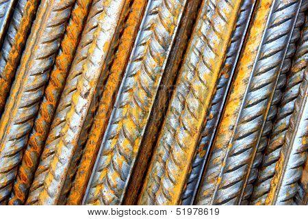 Rods of steel rebar