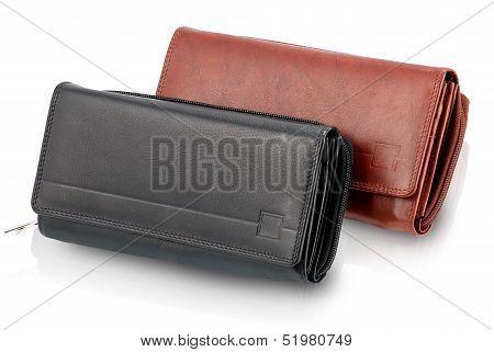 Ladies Black & Brown Wallet