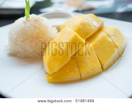 Mango Sticky Rice, Thai Dessert