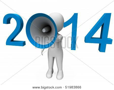 Two Thousand Fourteen Loud Hailer Shows Year 2014