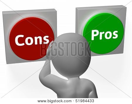 Cons Pros Buttons Show Decisions Or Debate