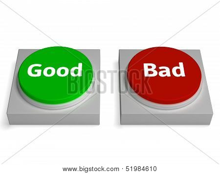 Good Bad Buttons Shows Approved Or Refuse