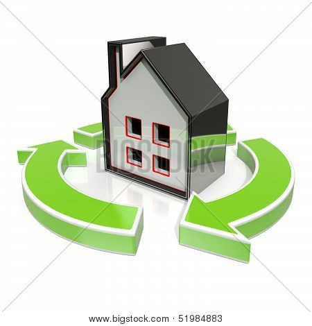 House Icon Shows Home Flipping