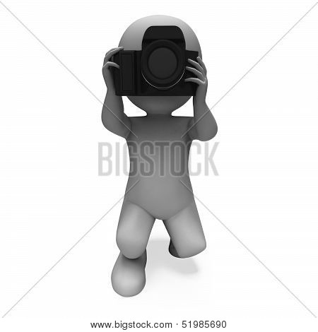 Taking A Photo Character Shows Photography Dslr And Photograph