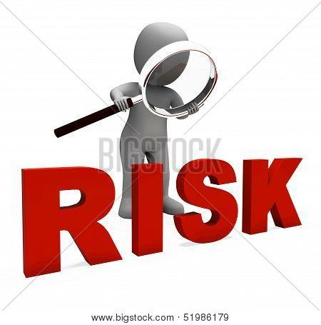 Risky Character Shows Dangerous Hazard Or Risk