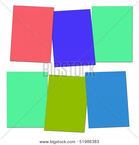 Three Blank Paper Slips Show Copyspace For 3 Letter Words